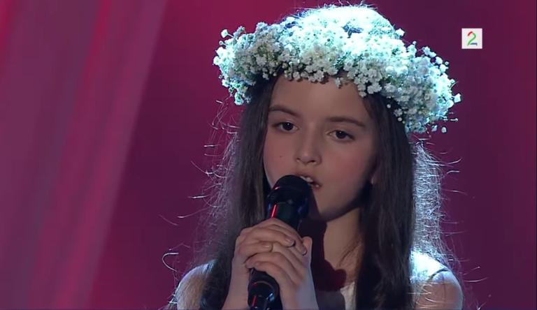 <p>Angelina Jordan, 8, performs on 'Norway's Got Talent.'</p>
