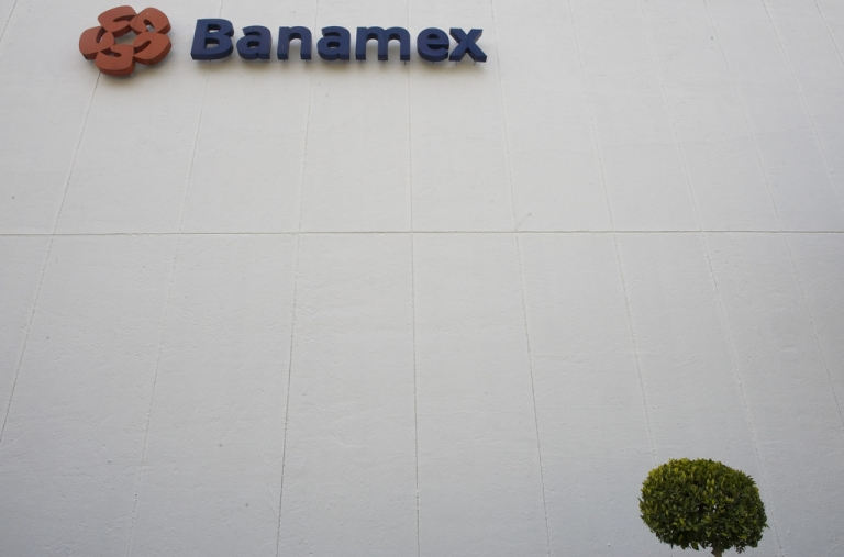 <p>A Banamex branch in Mexico City on Nov. 23, 2009.</p>