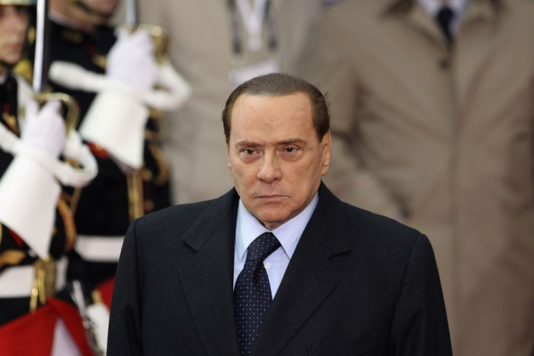 <p>Former Italian Prime Minister Silvio Berlusconi at the G20 Summit on Nov. 3, 2011 in Cannes, France.</p>