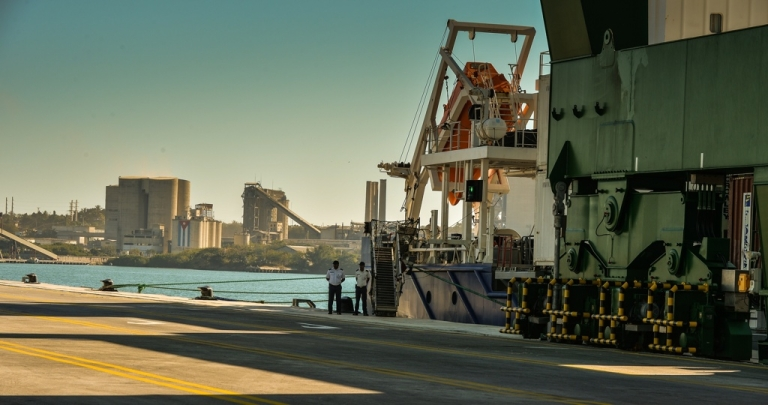 <p>Cuba's Mariel port during its inauguration on Jan. 27.</p>