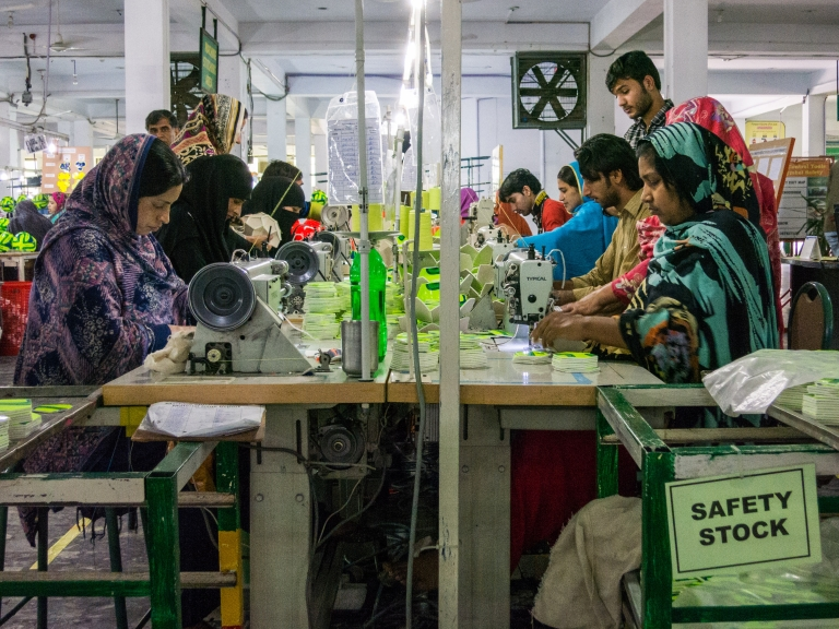 <p>The factory is the only one in the area that employs women.</p>