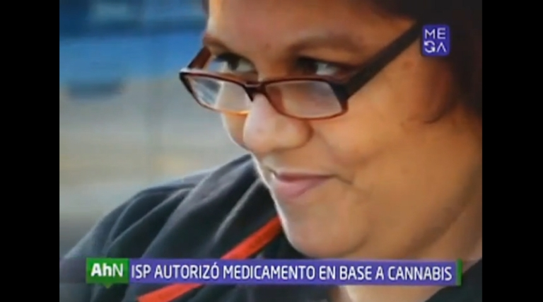 <p>Cecilia Heyder, who suffers from breast cancer and lupus, appeared on Chilean TV after the authorities allowed her to use a cannabis drug.</p>