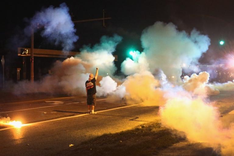 <p>&lt;&gt; on August 13, 2014 in Ferguson, Missouri.</p>