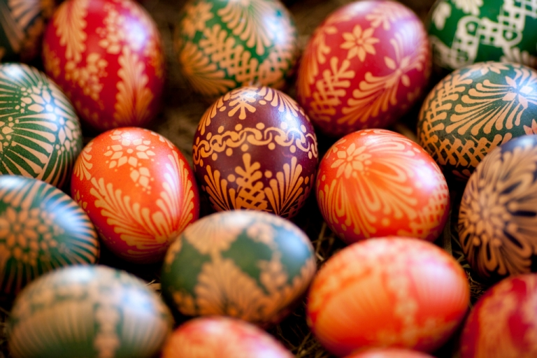 <p>Painted Easter eggs with in traditional Sorbian motifs were on display at the annual Easter egg market on March 24, 2012 in Schleife, Germany.</p>
