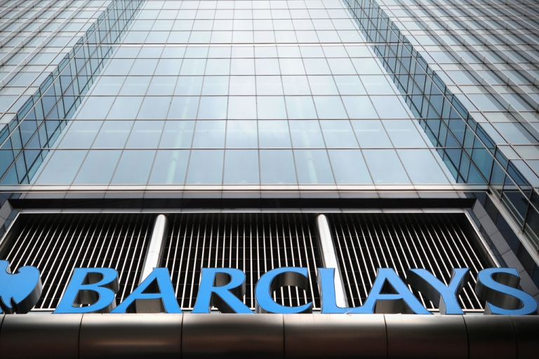 <p>The Barclays bank headquarters is pictured in Canary Wharf in east London, on July 3, 2012.</p>