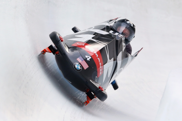 <p>Sochi watch: the US bobsled by BMW.</p>