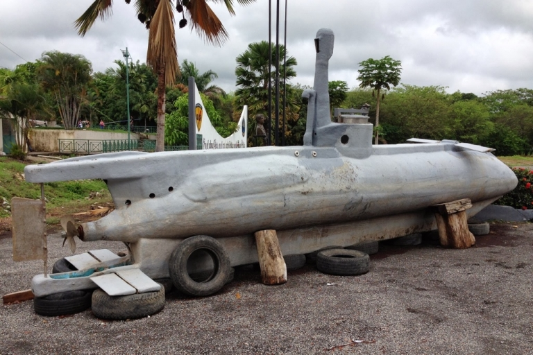 <p>Ecuadorean police seized this homemade narco submarine, which travels at 10 mph, has no oxygen tanks and can dive for just 15 minutes.</p>