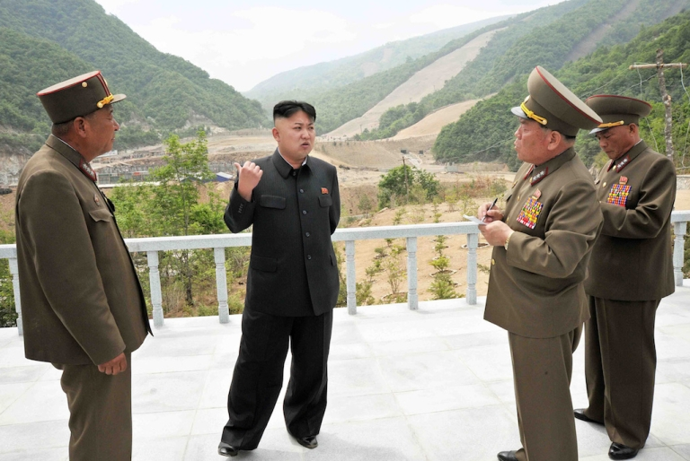 <p>This undated recent photo released by North Korea's official Korean Central News Agency (KCNA) on May 27, 2013 shows North Korean leader Kim Jong-Un providing a field guidance to the Masik Pass Skiing Ground currently under construction by the Korean People's Army.</p>
