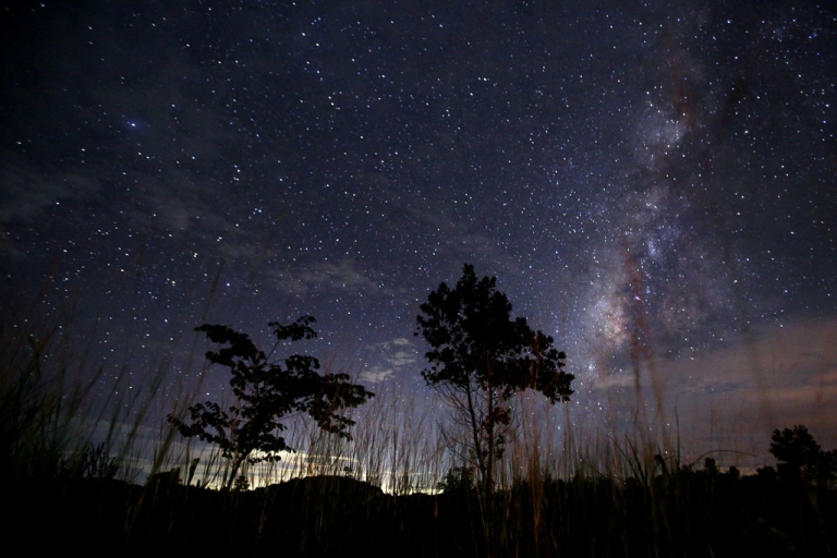 <p>This long-exposure photograph taken on Aug. 12, 2013 shows the Milky Way in the clear night sky near Yangon.</p>