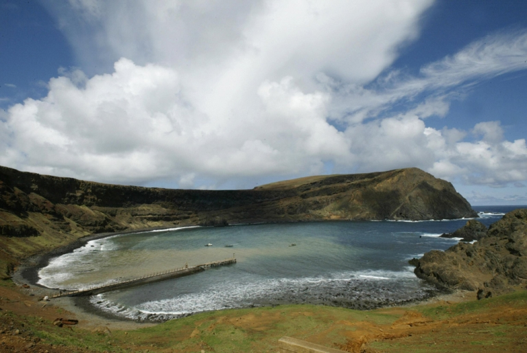 <p>Robinson Crusoe island, about 400 miles west of Chile's central coast.</p>