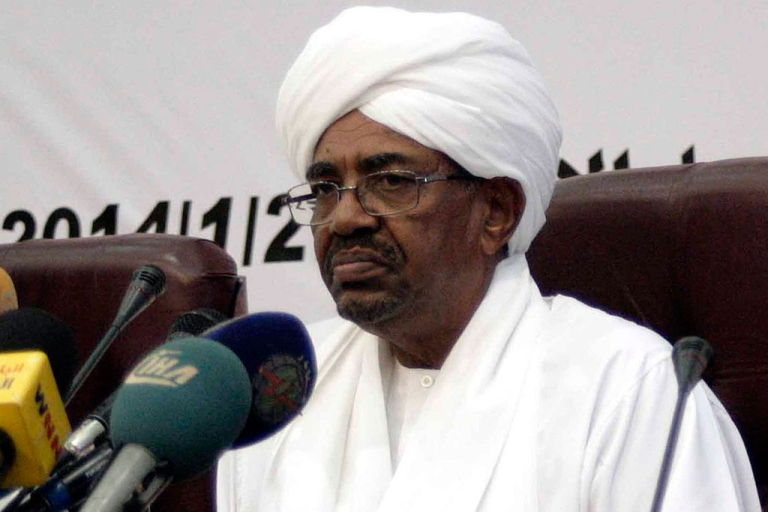 <p>Sudan's President Omar al-Bashir delivers a speech on Jan. 27, 2014 in which he appealed for a political and economic renaissance in his country ravaged by war, poverty and political turmoil, in the Sudanese capital Khartoum.</p>