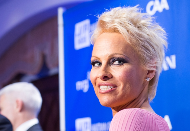 <p>Pamela Anderson arrives at the 3nd Annual Sean Penn &amp; Friends Help Haiti Home Gala on January 11, 2014 in Los Angeles, California.</p>