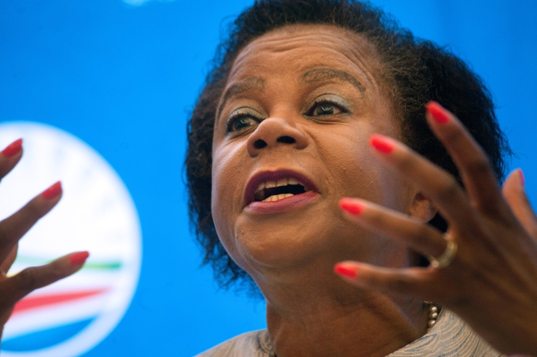 <p>Mamphela Ramphele speaks at a press conference where she was announced as the Democratic Alliance (DA) Presidential candidate for the upcoming 2014 South African elections.</p>