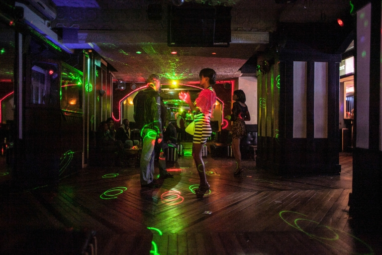 <p>A nightclub in the town center of Antananarivo, Madagascar. Young prostitutes find most of their clients in such establishments.</p>