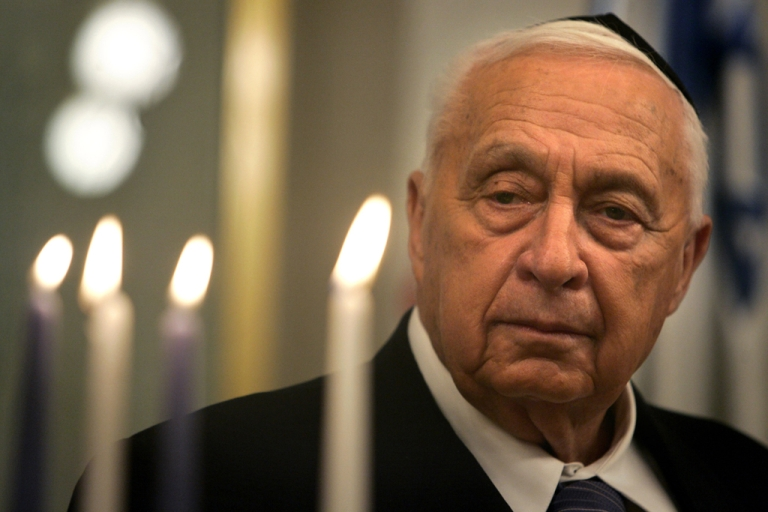 <p>File picture dated December 27, 2005 shows former Israeli Prime Minister Ariel Sharon.</p>