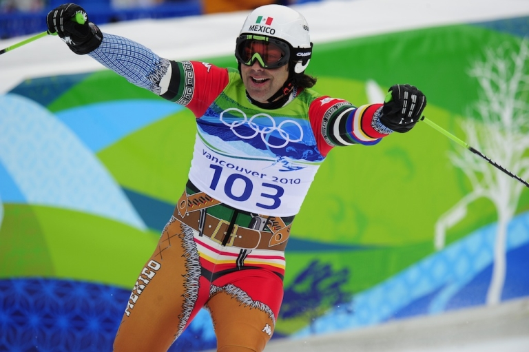 <p>This photo taken on Feb. 23, 2010, shows Hubertus von Hohenlohe wearing his Mexican bandit outfit at the Winter Olympics in Vancouver.</p>