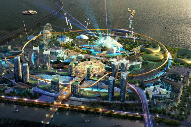 <p>Concept art for Robot Land in Incheon, Korea, scheduled to open in September 2013.</p>