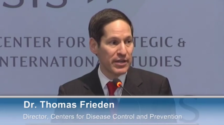 <p>Thomas Frieden, director of the Centers for Disease Control and Prevention, speaks at a Saving Mothers, Giving Life event in Washington DC on January 9, 2013.</p>