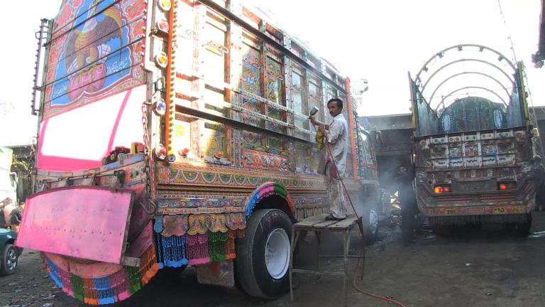 <p>Pakistan's truck artists worry NATO's withdrawal from Afghanistan will put them out of business.</p>