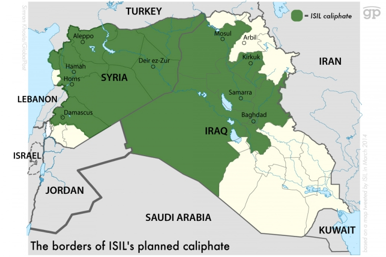 Islamic Caliphate Map Newest Islamic Caliphate
