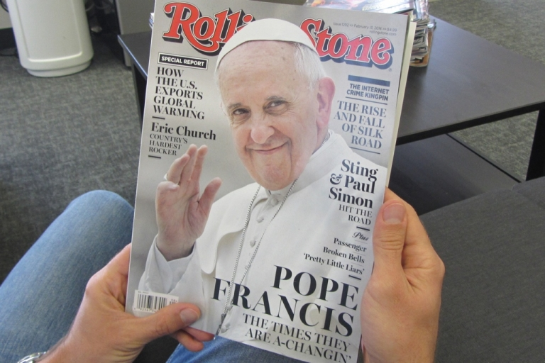 <p>Pope Francis made the cover of Rolling Stone on Jan. 29.</p>