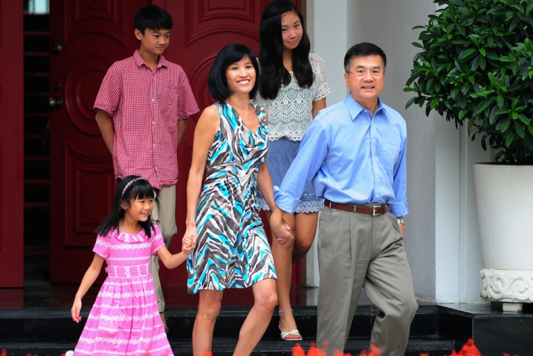 <p>US ambassador Gary Locke and his family meet the press in China, in 2001. On his departure, a critique in China's official media called him a banana: yellow on the outside, with a white heart.</p>