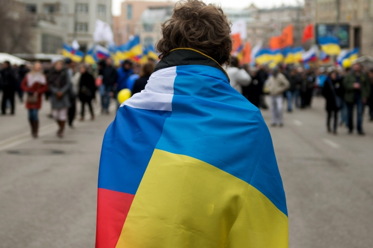 <p>Tens of thousands rallied in Moscow last week against Russia's annexation of Crimea. But 80 percent of Russians support the move.</p>