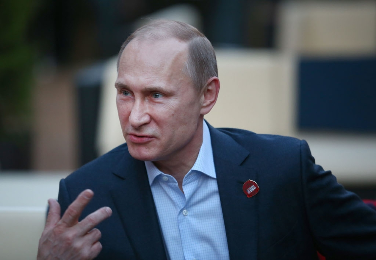 <p>Russian President Vladimir Putin has hit back with sanctions against nine US lawmakers and officials.</p>