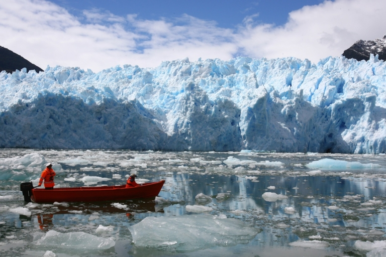 <p>Chile's Northern Patagonian Ice Field, located in the Laguna San Rafael National Park, a UNESCO World Biosphere Reserve.</p>