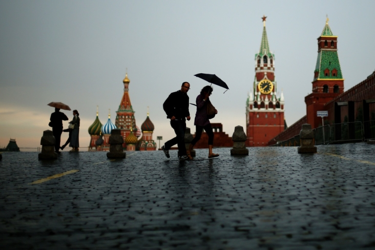 <p>In Moscow, even the weather is unfriendly.</p>