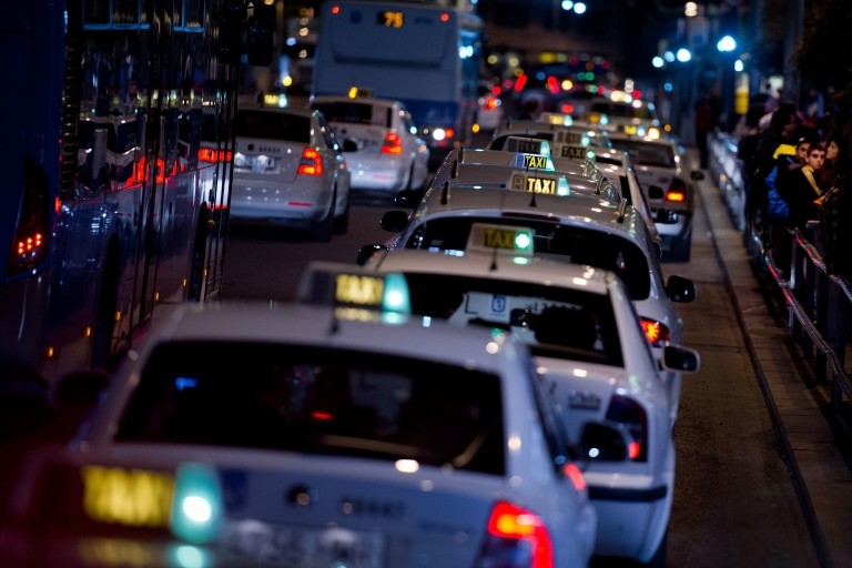 <p>Spanish taxi drivers threatened nationwide strikes after Uber launched in Barcelona in April.</p>