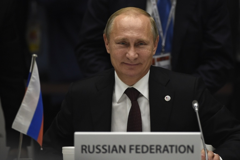 <p>Russia's President Vladimir Putin attends the 10th Asia-Europe Meeting on Oct. 17 in Milan.</p>