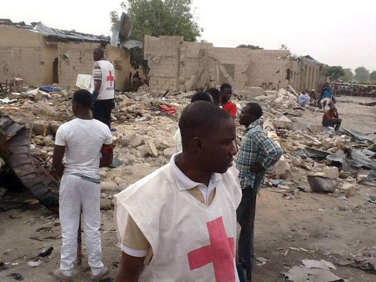 <p>On March 1, two explosions rocked a crowded neighborhood in Maiduguri in Borno, the state where the Nigerian schoolgirls were abducted the following month.</p>
