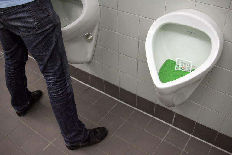 <p>The soccer-theme urinals of the German Football Federation Media Center of the World Cup International Broadcasting Centre in Berlin ahead of the 2006 Fifa World Cup. Will the