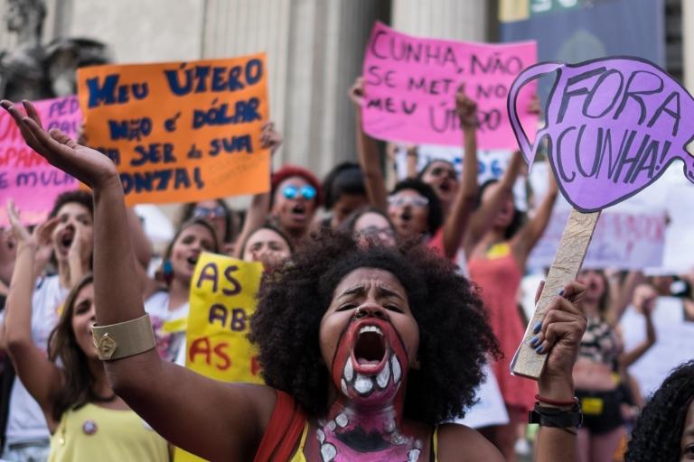 Brazil women protest
