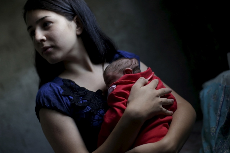 Brazil mother with baby with microcephaly