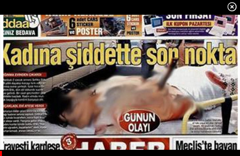 <p>A screenshot of the Haberturk's controversial front page from the Globe and Mail.</p>