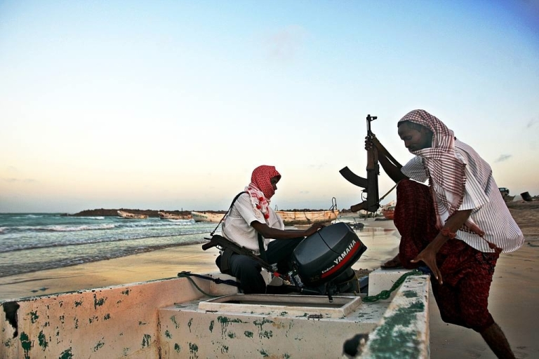 <p>Pirates utilize the hidden coves and lack of marine patrol in the Gulf of Guinea to attack ships headed to and from rich port cities in West Africa. Unlike these Somali pirates seen preparing their boat for attacks, the Gulf of Guinea pirates do not usually hold ships for ransom.</p>