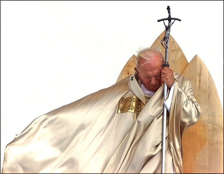 <p>This picture taken on September 19, 1999, in Maribor shows Pope John Paul II celebrating a mass of beatification of Anton Martin Slomsek. Pope John Paul II will be beatified on May 1, 2011.</p>