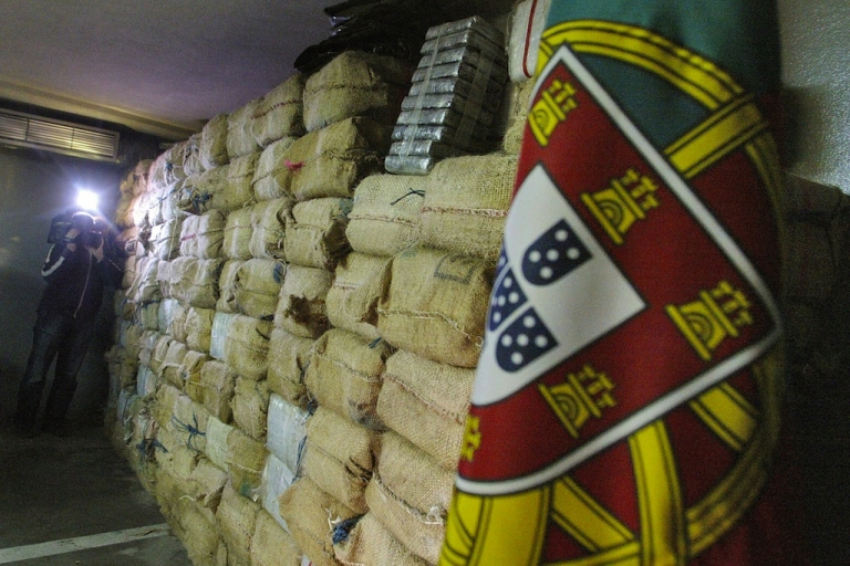 <p>A TV cameraman records the three-tons cocaine seizure on February 3, 2006 in Braga, northern Portugal. Many nations thinking about decriminalizing drugs may look to Portugal as an example.</p>