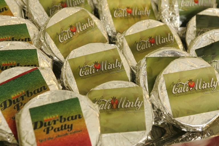 <p>Marijuana laced cookies for sale at a medical marijuana 'club' in West Hollywood, California.</p>