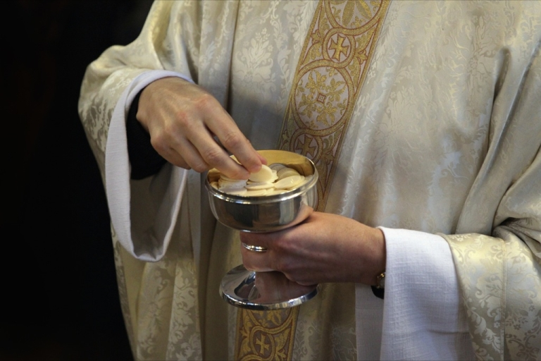 <p>A 92-year-old Wisconsin Jesuit has become the latest Catholic priest to be punished by church authorities for celebrating Mass with a woman priest in violation of church rules.</p>