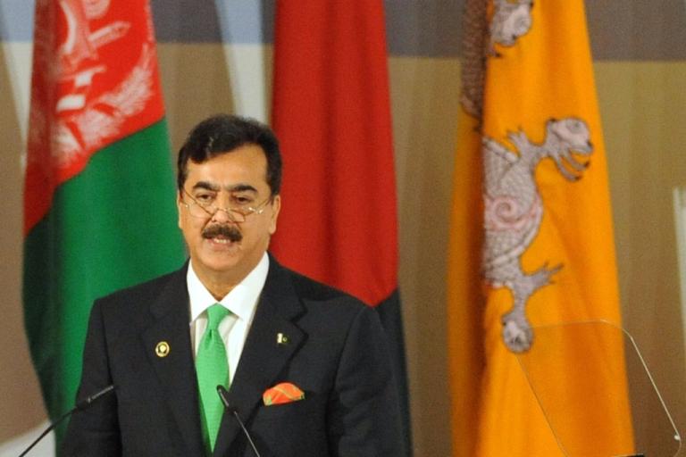 <p>Pakistani Prime Minister Yusuf Raza Gilani AFP PHOTO/RAVEENDRAN</p>