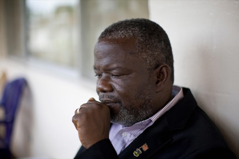 <p>Former Liberian warlord and current senator Prince Johnson in his home in Monrovia on June 26, 2009.</p>