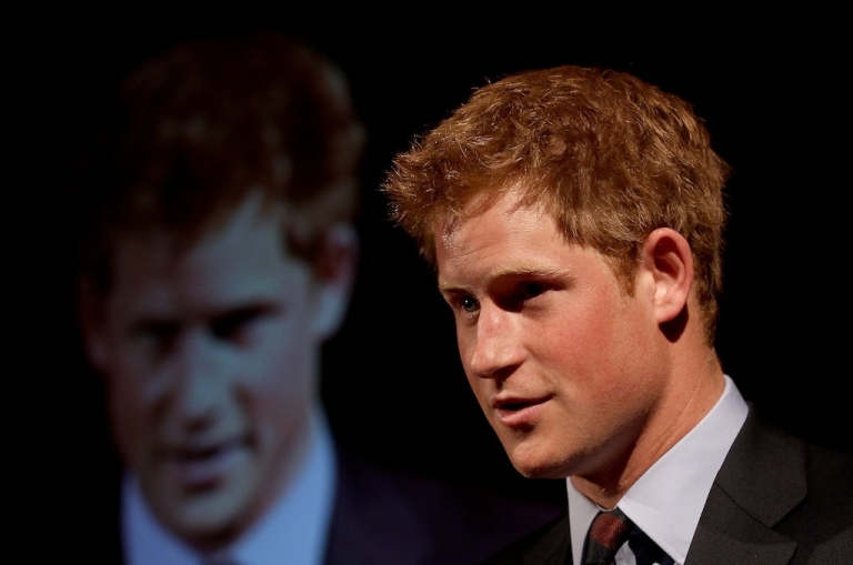 <p>Prince Harry gives a speech at the Friends of the Forces Awards at the Liberal Club on July 13, 2010, in London, England.</p>