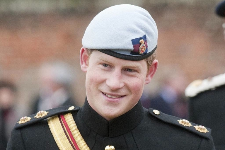<p>Prince Harry has been honored... with a naked salute.</p>