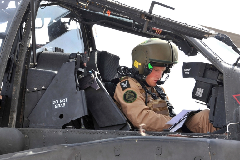 <p>EL CENTRO, CALIFORNIA - In this handout image provided by the Ministry of Defense, EX Crimson Eagle Capt Wales, Prince Harry prepares his Apache to go out on a mission on October 25, 2011 in El Centro, California.  (Photo by Sgt Russ Nolan RLC/MoD via Getty Images)</p>