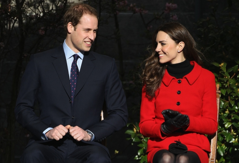 <p>Prince William and Kate Middleton visit the University of St Andrews on Feb. 25, 2011, in St Andrews, Scotland.</p>
