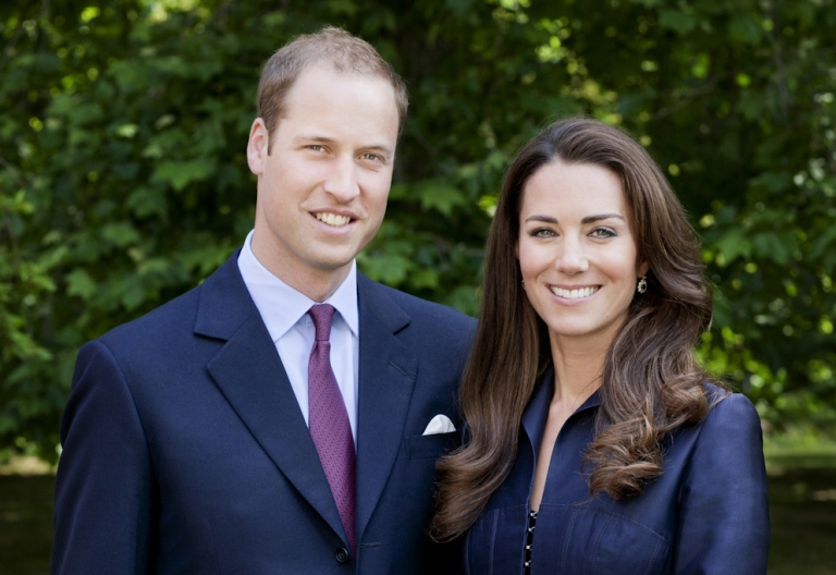 <p>In this handout image, Prince William, Duke of Cambridge and Catherine, Duchess of Cambridge - better known as William and Kate - pose for the official tour portrait for their trip to Canada and California in the Garden's of Clarence House on June 3, 2011 in London. England. The newly married royal couple will be undertaking their first official joint tour to Canada and California from June 30. William and Kate's trip will begin with Canada Celebrations in Ottawa and include highlights such as the Calgary Stampede and a visit to Yellowknife.</p>