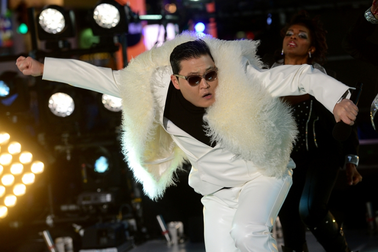 <p>South Korean singer PSY performs during New Year's Eve celebrations in Times Square in New York on Dec. 31, 2012.</p>